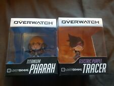 x2 Overwatch Figures Electric Purple Tracer Titanium Pharah Blizzard Lootgaming