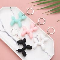 Cartoon Dog Keychain Colorful PVC Soft Rubber Dog Keychains For Women KeyChains~