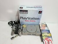 Sony PlayStation 1 Console Boxed Bundle - 2 Controllers, Memory Card, 6 Games