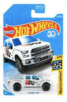 Hot Wheels 1/64 2015 White w/Black FORD F-150 TRUCK w/HW Speed Graphics