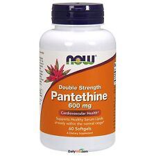 Now Foods Pantoteno cápsulas 600 Mg, fresco, Dupla Força, Made In Usa