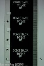 VINTAGE 16MM FILM...1940S/50S...MUSICAL...' COME BACK TO ME ! '