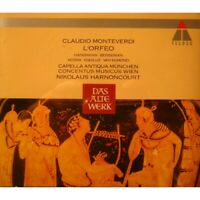 HARNONCOURT/CAPELLA ANTIQUA MUNCHEN l'orfeo MONTEVERDI 2CD's Box 1992 Teldec