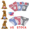 Female Pet Dog Striped Physiological Pants Menstrual Sanitary Nappy Diaper S-XL