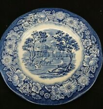 STAFFORDSHIRE Liberty Blue Ironstone, Monticello Bread and Butter Plate, Pre-own