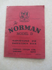1950s Norman model D series IF ultra lightweight motorcycles owners manual