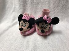 Disney Mickey Mouse Clubhouse Minnie Sock Top Slippers Size 7/8