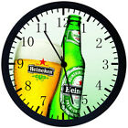 Beer Black Frame Wall Clock Nice For Decor or Gifts X66