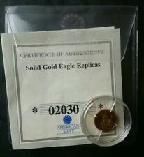1/2 gram 585 gold medal Fashioned After a 2011 Gold Eagle Commemorative Round