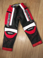 Pantalons de cross rouges en polyester
