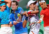 Roger Federer Rafael Nadal Djokovic Murray Tennis Autograph Signed A4 Poster 1