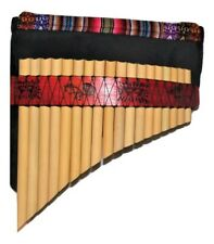 BAMBOO  PANFLUTE 18  PIPES FROM PERU -CASE INCLUDED-ITEM IN USA