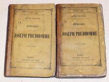 LES MEMOIRES DE MONSIEUR JOSEPH PRUDHOMME EFT 1857