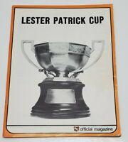 Vtg Lester Patrick Cup WHL Official Magazine 1971-72 Hockey Season Denver Spurs