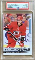 2018 2019 Andrei Svechnikov Card PSA 10 JUMBO RC UPPER DECK YOUNG GUNS ROOKIE YG