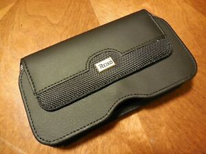 HP100B_BK REIKO EXTRA LARGE POUCH BELT LOOP HOLSTER CELL PHONE CASE UNIVERSAL