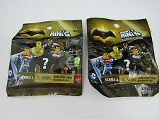 LOT 2 MATTEL MIGHTY MINIS SERIES 1 BLIND BAGS  DC COMICS SUPER HERO NEW SEALED