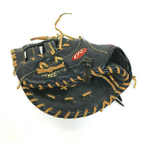 Vinatge Rawlings RENEGADE  Black Leather First Baseman Catchers Glove LHT