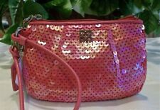 Coach Audrey Sequin Wristlet Small Evening Purse Handbag Clutch NWT 45395 Pink