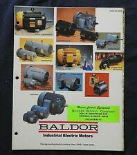 1976 Baldor Industriel Électrique Motors Sales Catalogue Fort Smith Arkansas