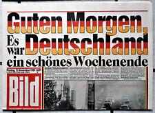 """BILD Zeitung 13.11.1989 """" Guten Morgen Deutschland """"  , NEU ungelesen,wie neu"""
