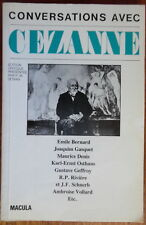Conversations avec Cezanne - P.M. Doran - Macula - 1978
