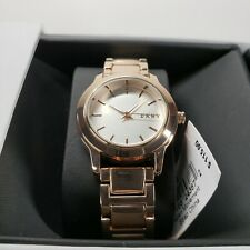 NWT DKNY Tompkins Silver Pearlized Dial Rose Gold-tone Ladies Watch NY2210 $115