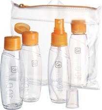 Go Travel Cabin Approved Bottle Set-4 100ml Bottles for Liquids & Gels (Ref 658)