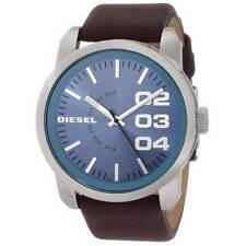 Diesel Men's DZ1512 Blue Dial Dark Brown Leather Strap Quartz Watch