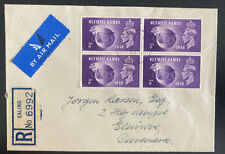 1948 Ealing England Airmail First Day cover King George VI Olympic Games