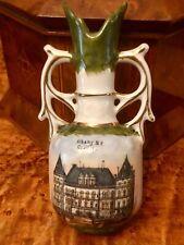 "Antique Souvenir Vase Capitol Building Albany New York 6"""