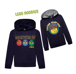 Boys Ninjago Lego Ninja Hoodie Jumper Kids Sweater Hooded Sweatshirt Top NEW