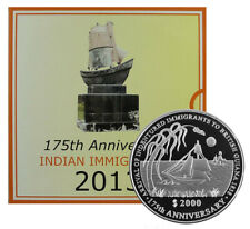 GUYANA 2000 Dollars 2013 '175th Indian Immigration - Sailing Ship Mint packaging