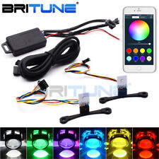 Bluetooth App Control Demon Devil Eye RGB LED Lamps For Headlight Projector Lens