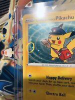 Special Delivery Pikachu Promo Card SWSH074 Pokemon Center RARE Holo Swirl