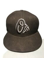 Baltimore Orioles O's Logo MLB New Era 59FIFTY Hat Fitted 7 1/4 Black White 5950