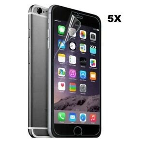 5 X Clear Plastic Screen Guard Protector Film Layer For iPhone 5 6 7 Plus X XR