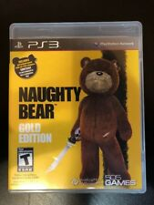 Naughty Bear : Gold Edition - Ps3 ( Playstation 3 ) Complete W/box & Manual !