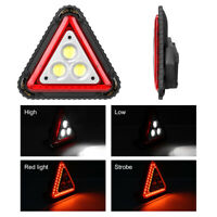 Aluminum USB COB LED Work Light Outdoor Triangle Car Warning Spot Lights Lamp