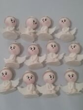 12 pcs Angel Boy  White Baptism First Communion handmade Favor Migajón