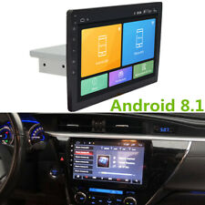 "10"" Android 8.1 Adjustable DIN Car Radio Stereo Player GPS Wifi 4-Core DAB OBD"