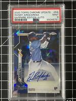 2020 Topps Chrome Update Randy Arozarena Sapphire Edition Auto PSA 9