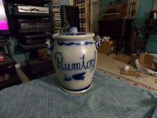 Vintage GERMAN STONEWARE POTTERY Salt Glazed Blue Gray RUMTOPF 3 Liter Crock VG!