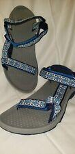 Teva Women's Sandals Size 9M Blue White Navy Model F3016A 6577 Straps Hook &...