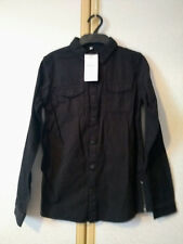 M&S Boys Black Pure Cotton Denim Long Sleeve Shirt Age 11-12 BNWT