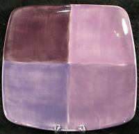 "Tabletops Unlimited Quadrettini 11.25"" Square Dinner Plate - Plum Purple"