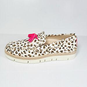 Sperry cloud Authentic Original Men's Tassel Loafers Beige Leopard Print Size 9