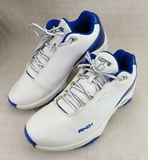 AND1 White Blue Ankle Basketball Running Athletic Sneakers Men's US 10 Shoes