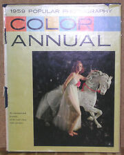 1959 Popular Photography Color Annual-72 Full Color Pages-First Edition/DJ