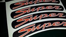 Vespa GTS Super Rim tape Wheel stickers MATT / SATIN BLACK 125 200 250 300